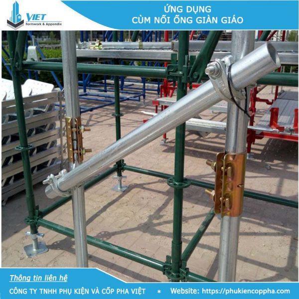 Ứng dụng cùm nối ống ngoài