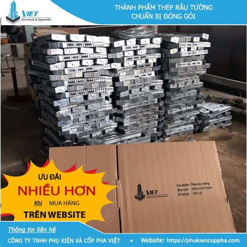 Thành phẩm thép râu tường tại Đà Nẵng chuẩn bị đóng gói