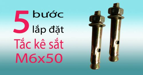 Tắc kê sắt M6x50